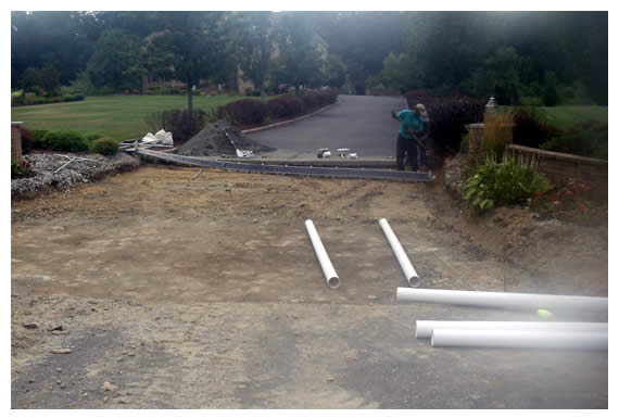 Longford Before, During & After Driveways Construction