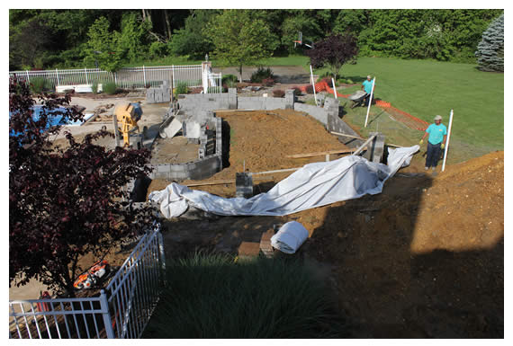 Longford Before, During & After Poolscapes Construction
